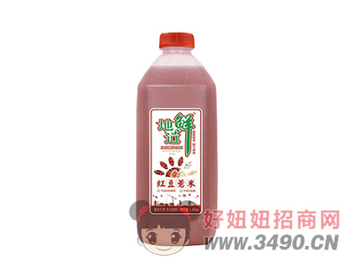 地道鲜红豆薏米饮料1.25L