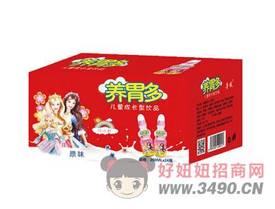 养胃多儿童成长型乳酸菌饮品原味200mlX24瓶(红)