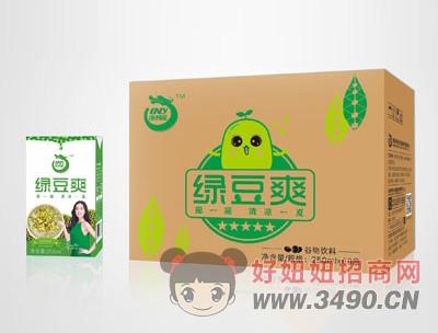 澳利龙绿豆爽250mlx60盒箱装