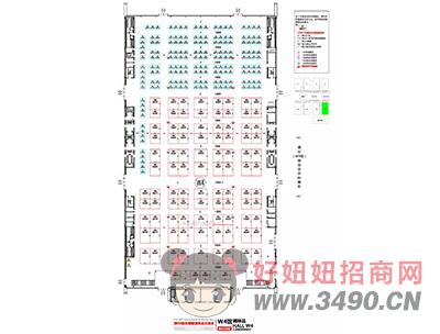 长沙国际会展中心W4馆平面图