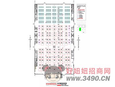 长沙国际会展中心W2馆平面图
