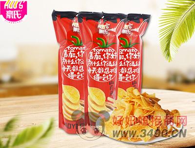 豪氏山药薄片番茄味92g