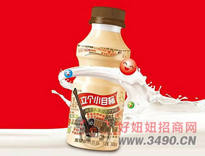 立个小目标炭烧酸奶饮品340ml原味