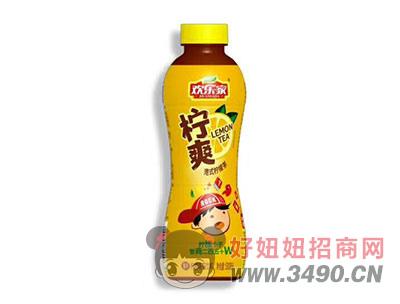 欢乐家柠檬小子柠爽港式柠檬味茶饮料500ml(黄)