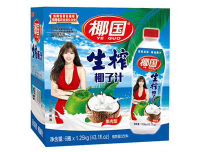 椰国生榨椰子汁1.25Kg×6瓶