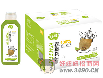 U幕猕猴桃汁饮料450ml×15瓶