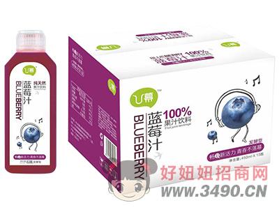 U幕蓝莓汁饮料450ml×15瓶