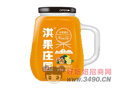 淇果庄园百香果复合果汁345ml