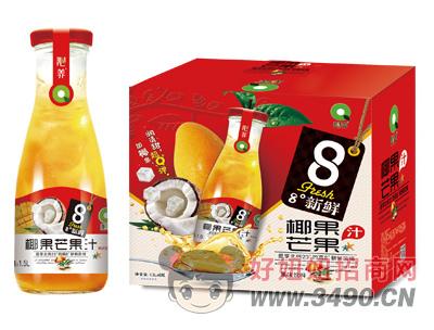 沁养椰果芒果汁1.5L×6瓶