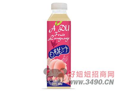 优贝白桃汁饮料500ml