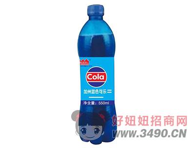 豫友百岁山加州蓝色可乐550ml瓶装