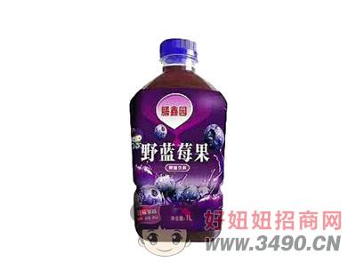 膳鑫园野蓝莓果饮料1L