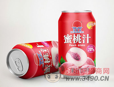旭日升氮气水蜜桃果汁罐装