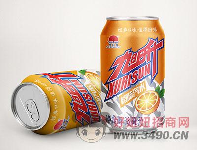 旭日升橙味汽水罐装