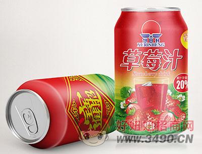 旭日升草莓汁罐装