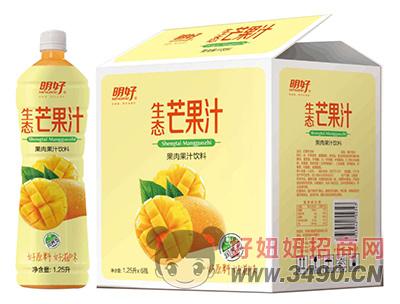 明好生态芒果汁饮料1.25L×6瓶
