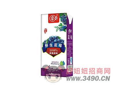 睿奇珍品野生蓝莓100%原果原味蓝莓味饮品250ml