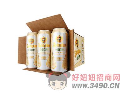 青岛啤酒全麦白啤500ml
