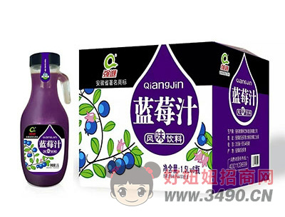 强进蓝莓汁1.5lx6瓶