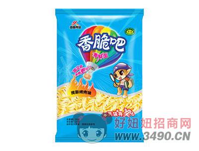 恋圆食品香脆吧香酥面波斯烤肉味33g