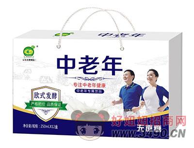 中老年无蔗糖饮品250mlx12盒