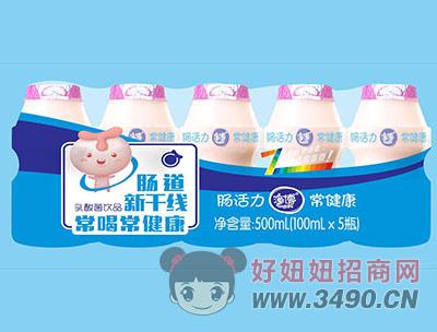 潼博肠道新干线乳酸菌饮品500ml(100mlX5瓶)