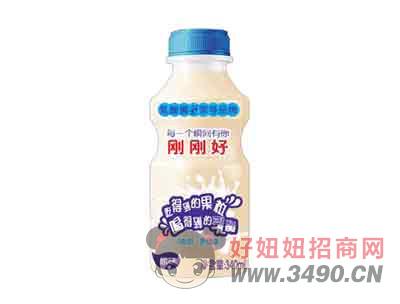 刚刚好乳酸菌饮品原味340ml(正面)