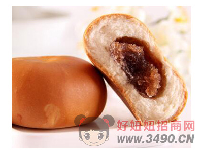 洪胜记红豆沙夹心奶香面包