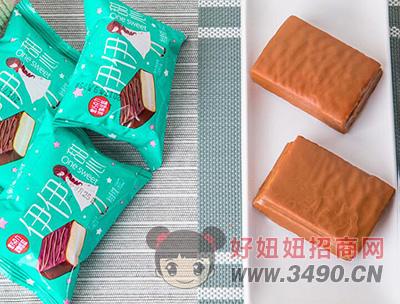洪胜记黑巧克力涂层夹心蛋糕