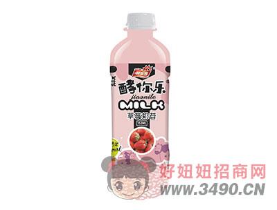 柯菲雪酵你乐草莓奶昔350ml