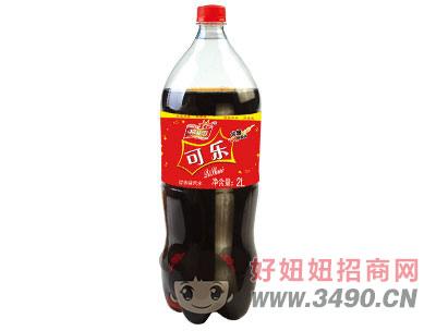 柯菲雪可乐味汽水2Lx6瓶