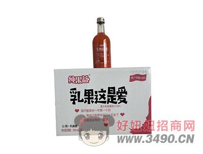 纯果益乳果这是爱山楂+乳酸菌果汁饮料330mlX12瓶
