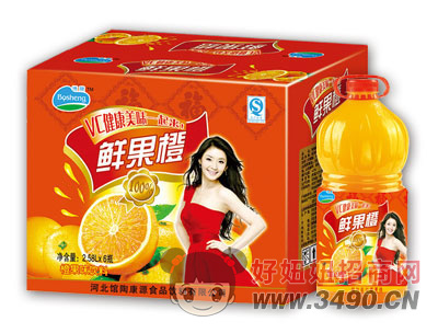博晟鲜果橙2.58LX6瓶