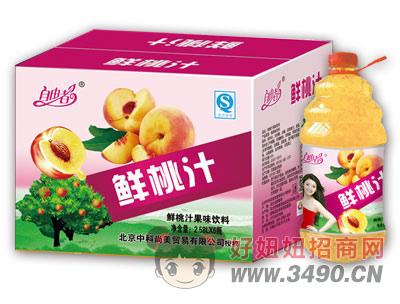 自由者鲜桃汁2.58LX6瓶箱