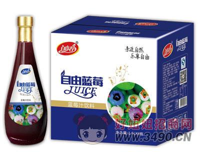 自由者自由蓝莓汁1.5Lx6瓶