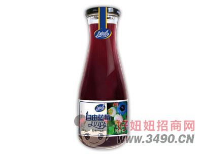 自由者自由蓝莓汁1L