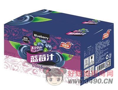 柯菲雪蓝莓汁箱