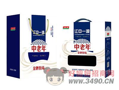 江中一源中老年金牌牧场风味lehu国际app下载250mlx12盒礼盒