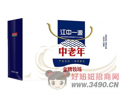 江中一源中老年金牌牧场风味lehu国际app下载250mlx12盒礼箱装