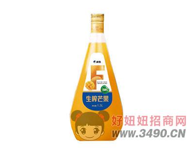 米奇生榨芒果�秃瞎�汁�料1.5LX6瓶
