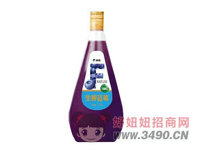 米奇生榨�{莓�秃瞎�汁�料1.5LX6瓶