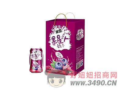 果星人蓝莓复合果汁饮料310ml×12罐