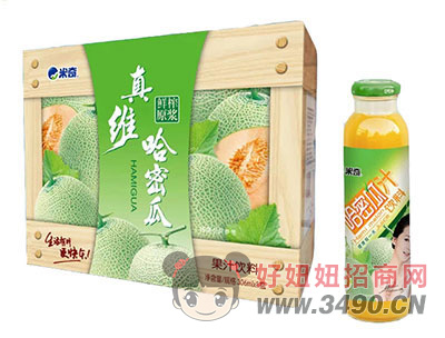 米奇哈密瓜果汁�料306ml×8瓶