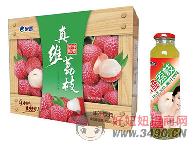 米奇荔枝果汁�料306ml×8瓶