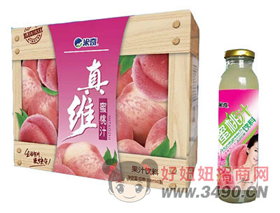 米奇水蜜桃果汁�料306ml×8瓶
