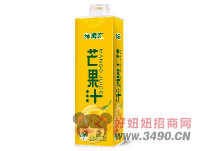绿汇源芒果汁饮料1L