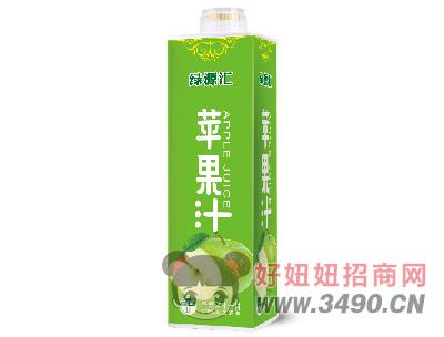 绿汇源苹果汁饮料1L