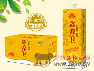 鑫养卫芒果汁饮料(屋顶盒)1L×6盒