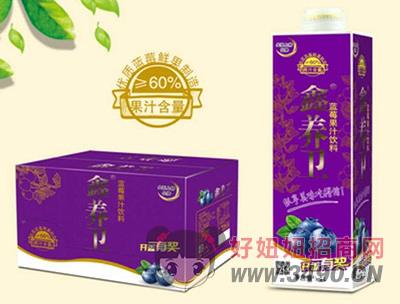 鑫养卫蓝莓汁饮料(屋顶盒)1L×6盒