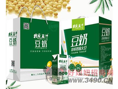 我爱豆汁豆奶250mlx12盒